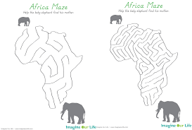 Africa Labeled Map by Animals Of Africa For The Montessori Wall Map U0026 Quietbook With