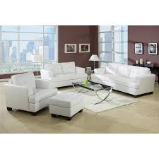 White Tufted Loveseat Acme Platinum White Sofa Set Sofa Loveseat Chair Contemporary