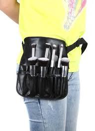 makeup artist belt black pvc cosmetic makeup brush apron bag with artist belt