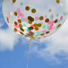 jumbo balloons customize your own confetti balloon 36 in jumbo clear balloon filled