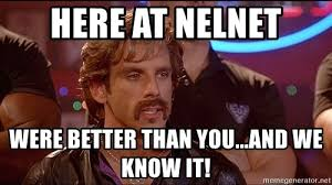 Dodgeball Meme - here at nelnet were better than you and we know it dodgeball
