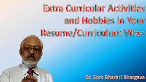 Extra Curricular For Resume Extra Curricular Activities And Hobbies In Your Resume Cv
