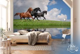 Horse Murals by Horses Galloping On A Lake