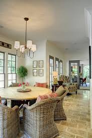 round kitchen tables dining room traditional with beige floor
