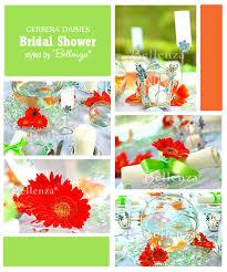 gerbera colors gerbera daisies themed bridal shower tea party unique wedding