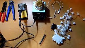 how to convert to led lights diy how to convert battery powered lights to ac powered youtube