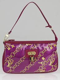 Monogram Charms Louis Vuitton Limited Edition Fuchsia Monogram Charms Pochette Bag