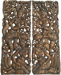 carved wood wall best quality wall decor traditional thai carved teak wood wall