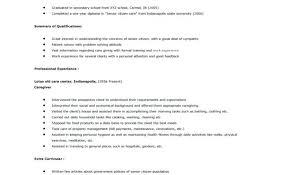 Caregiver Experience Resume 100 Caregiver Resume Sample Resume Live In Nanny Resume Sample