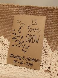 personalized seed packets seed packet custom weddings favour let grow personalized