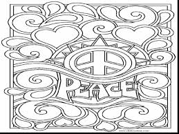 surprising love and peace sign coloring page with peace sign