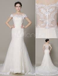 ivory lace wedding dress ivory wedding dress the shoulder mermaid lace wedding gown
