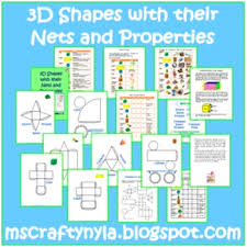 3d shapes worksheets sorting activities nets posters 3d