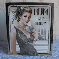 art deco greetings card mum happy birthday debbi moore designs