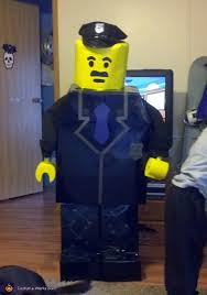 Lego Halloween Costume Homemade Lego Police Officer Costume Boys