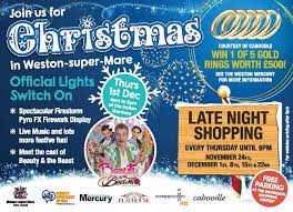 don u0027t miss the official christmas light switch on in weston super