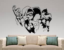 harley quinn and joker and batman sticker marvel comics zoom