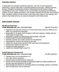 Warehouse Management Resume Sample by Supervisor Resume Sample 9 Examples In Word Pdf