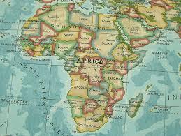 africa map fabric prestigious atlas world map azure prestigious designer fabric by