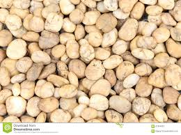 Garden Rock Small Brown Garden Rock Pebbles Background Stock Image