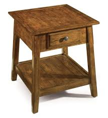 Living Room End Table Ideas Vintage Black Painted Wooden Side Table With Two Drawers