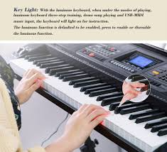 amazon com smart 61 keys mk 816 usb midi app electronic lighting