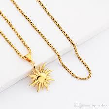 heart necklace gold plated images Wholesale fashion hip hop jewelry sun pendant necklaces men 18k jpg