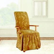 Dining Room Arm Chair Covers Sure Fit Cotton Duck Arm Dining Room Chair Cover