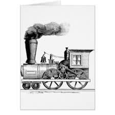 steam train greeting cards zazzle