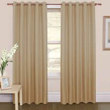 livingroom window treatments furniture beige grommet top curtain with brown wooden rods