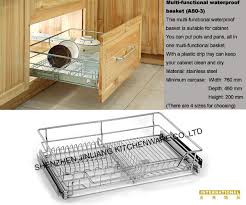 kitchen cabinet four sided pull out basket china manufacturer