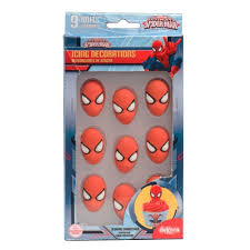 quality spiderman edible sugar icing decorations cake accents