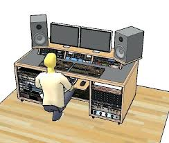 desk home recording studio desk plans studio designs wood desk