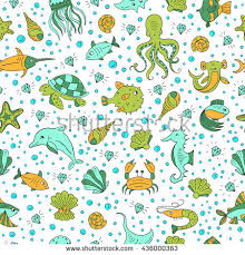 octopus wrapping paper vector seamless pattern sea animals octopus stock vector 430713325