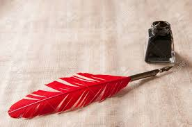 Stock Feather Flags Feather Quill Inkwell Stock Photos Royalty Free Feather Quill