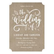 wedding invitations kraft paper kraft paper invitations announcements zazzle