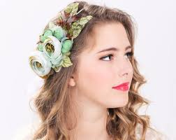 flower hair bridal flower hair crown woodland wedding