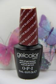 opi gelcolor got the blues for red uv led polish free