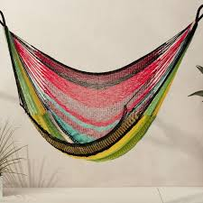 and red stripes hammock chair