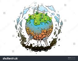 Bad Energy by Concept Different Types Energy Production Methods Stock Vector
