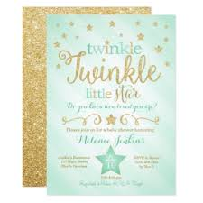twinkle twinkle baby shower invitations twinkle baby shower any color card zazzle