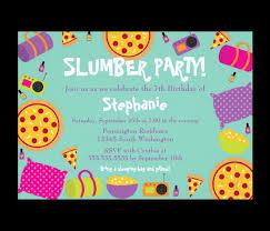 sleepover birthday invitations stephenanuno