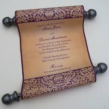 Scroll Invitations Diy Scroll Wedding Invitations Finding Wedding Ideas