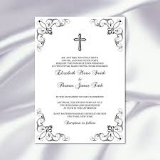catholic wedding invitations catholic wedding invitation template diy printable black