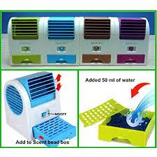 Desk Top Air Conditioner Mini Portable Fan Cooling Desktop Bladeless Air Conditioner