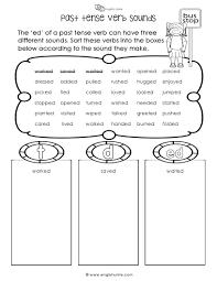 past tense verb sounds worksheet english unite english unite