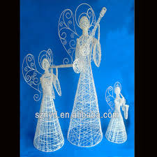 lighted outdoor angel sacharoff decoration