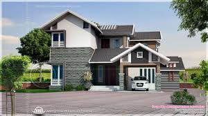 Sloped Lot House Plans Square Feet Sloping Roof House Elevation Kerala Home Design