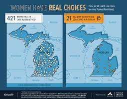 Michigan State Map Maps Health Clinics Nationwide Compared To Planned Parenthood