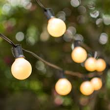 1 5 in bulbs 50 ft black wire outdoor globe string lights